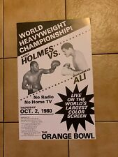 Original 1980 Larry Holmes Vs. Muhammad Ali Vintage Boxing Poster Mint Condirion