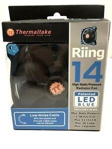 Thermaltake Riing 14 LED Blue 140mm Circular Ring Case Radiator Fan