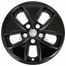 "4 BLACK 16"" Wheel Skins for 2014-16 KIA SOUL Hub Caps Rim Covers fits Alloy Rims"