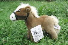 Pferd, stehend (mittelbraun) 20 cm mit Stimme