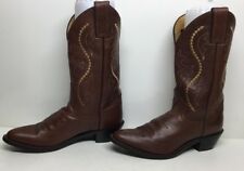 VTG WOMENS JUSTIN COWBOY LEATHER BROWN BOOTS SIZE 6 B