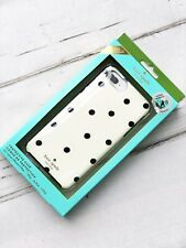 new Kate Spade Polka Dot Phone Case iPhone 8 7 6 Plus  black white hard cover