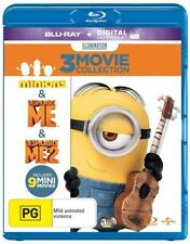 Despicable Me / Despicable Me 2 / Minions (Blu-ray, 2015, 3-Disc Set)