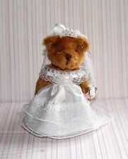 "DOLLS HOUSE - MINIATURE ""TEDDY BEAR"" BRIDE ON STAND"
