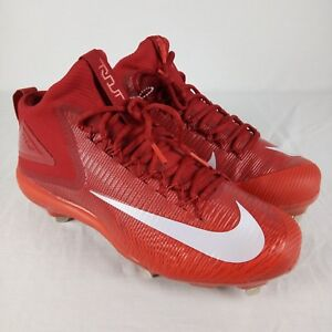 Nike Baseball Force Zoom MIKE TROUT 3 Red Metal Cleats NEW! $140