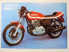 Prospekt ducati 500 Sport desmo Twin, aprox. 1976, 2 páginas, italiano/inglés