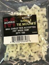 """QTY: 100  Pack Cable Tie Mount Saddle Accepted. 195"""" Wide (50#) #20358"""