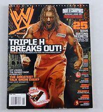 HHH June 2008 The Game John Cena Hardy Diva Magazine Raw WWE WWF Smackdown