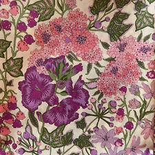 88cm x 1.37m Liberty Prints Lawn 'Edna' Cotton Dress Crafts Fabric Pink Purple