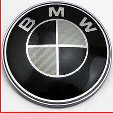 BMW 1 3 5 7 Z3 Z4 X3 X5 Series Negro Insignia Capó De Fibra De Carbono logo emblema 82mm