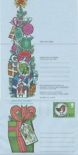 GB Stamps Aerogram / Air Letter APS39 - 10 1/2p Robin,tree,holly Christmas 1977