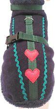 Wintermantel Trachtenmantel Hundemantel dunkelblau blau Herz Stoff Tracht grün