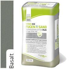 Stones Eco Fugensand 1-10 mm BASALT 15kg Einkehrsand Pflasterfugensand