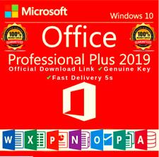 Microsoft Office 2019 Professional Plus 32/64 Bit Lifetime License Key For 1PC
