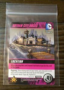 DC Comics Deck Building Game: GOTHAM CITY DOCKS Promo Card Cryptozoic Ent,