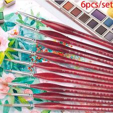 6Pcs/Set Paint Brushes Extra Fine Detail Paint Brushe Miniature Model Maker T Fe