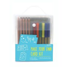 Xonex #30141 Make Your Own Card Kit 8 cards/8 envelopes/6 thin markers/5 pencils