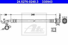 Bremsschlauch für Bremsanlage Hinterachse ATE 24.5276-0240.3