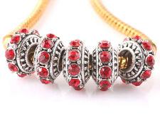 5pcs Tibetan silver CZ big hole spacer beads fit Charm European Bracelet C#508