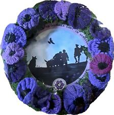 """WR - MURPHY'S ARMY PURPLE POPPY CAMPAIGN 14"""" REMEMBRANCE WREATH"""