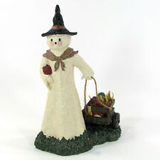 "Broomsnickle Ghost With Wagon 10"" Figurine Linda L. Baldwin 739367 Halloween"