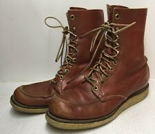 Vintage Red Wing Tuffy Boots Brown Leather Size 8B
