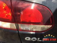 2009 VW Golf 1.4 TSI MK6 3dr Black (LC9X) NS Rear Left Inner Tail Light