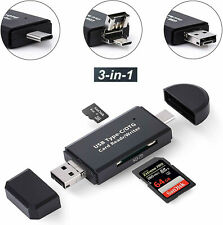 3 in 1 Type C Micro USB&USB OTG Adapter SD TF Card Reader for Samsung Galaxy S8