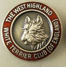WEST HIGHLAND WHITE TERRIER CLUB (OF ENGLAND) Enamel Lapel Pin Badge DOGS