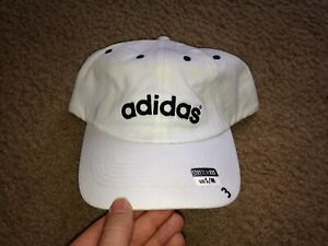 Vintage Adidas by agron Spell Out Stretch Fit Hat s/m NWT