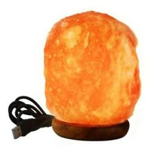 Mini Himalayan LED Salt Lamp USB Rock Crystal Lamp Air Purifier Ionizer Reiki.
