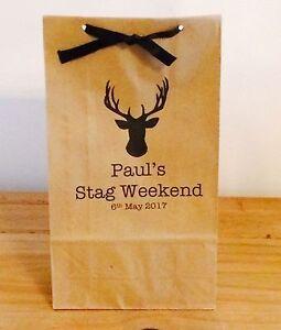 Personalised Stag Head Gift Bags/Stag/Gift/Hen/Wedding/Men/Groom