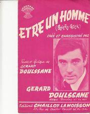 LIVRET PARTITION G. DOULSSANE *ETRE UN HOMME* & J. VALLON *LES AMOUREUX D'HIER*