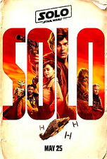 """2018 - New - Original """"SOLO"""" A Star Wars Story - Movie Poster 13""""X19"""""""