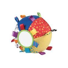 Playgro – pelota de tela con texturas espejo etiquetas y sonajero