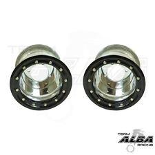 Banshee 350 Warrior  Rear Wheels  Beadlock  10x8  3+5  4/115  Alba Racing pol/b