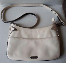 MIMCO Leather Expandable Top Zip Closure Shoulder Bag - Silvertone Hardware