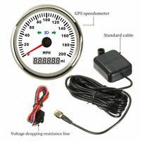 85mm Waterproof GPS Speedometer Gauge 0-200MPH for Car Truck Boat Motorcycle ATV
