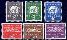 SVIZZERA 1955 - O.N.U.   SERIE NUOVA **