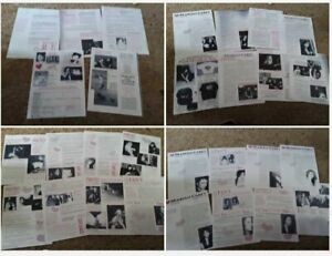MARIAH CAREY Ultra Rare Fan club lot of 7 NEWSLETTERS! Hard to find! COPY!!