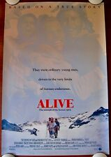 ALIVE Original (1993) 27x40 Movie Poster ~ ETHAN HAWKE ~ ROLLED  MINT CONDITION!