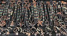 Jamaican Rasta Hand Made Pendant Beaded Necklace Lot Of 50