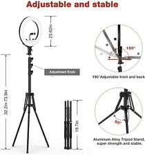 """Ring Light with Stand,14"""" Ring Light with Tripod Stand &Phone Holder, Carry Bag"""