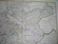 1867 MAPA POLSKI POLEN WARSZAWA WARSCHAU GDAŃSK ŚLĄSK SCHLESIEN POMORZE POMMERN