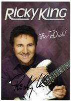 RICKY KING - hand signed Autograph Autogramm - Autogrammkarte original signiert