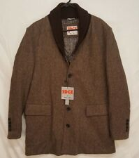 EDGE by WD.NY Mens Slim Fit XL wool blend shawl collar Top Over Coat Tweed
