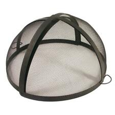 32 Inch Folding Fire Pit Spark Screen Side Handle Mesh Outdoor Camp Copper Steel