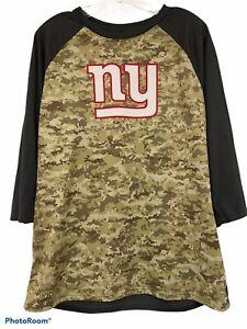 New York Giants NFL Nike Salute to Service Camo 3/4 Sleeve Mens Large