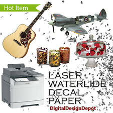 Laser Waterslide Decal Paper Clear 5 Sheets 85x11 Usa Not China 1