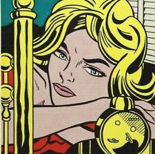 """ROY LICHTENSTEIN mounted vintage repro print 10 x 10"""" 1967 Pop Art RL31"""